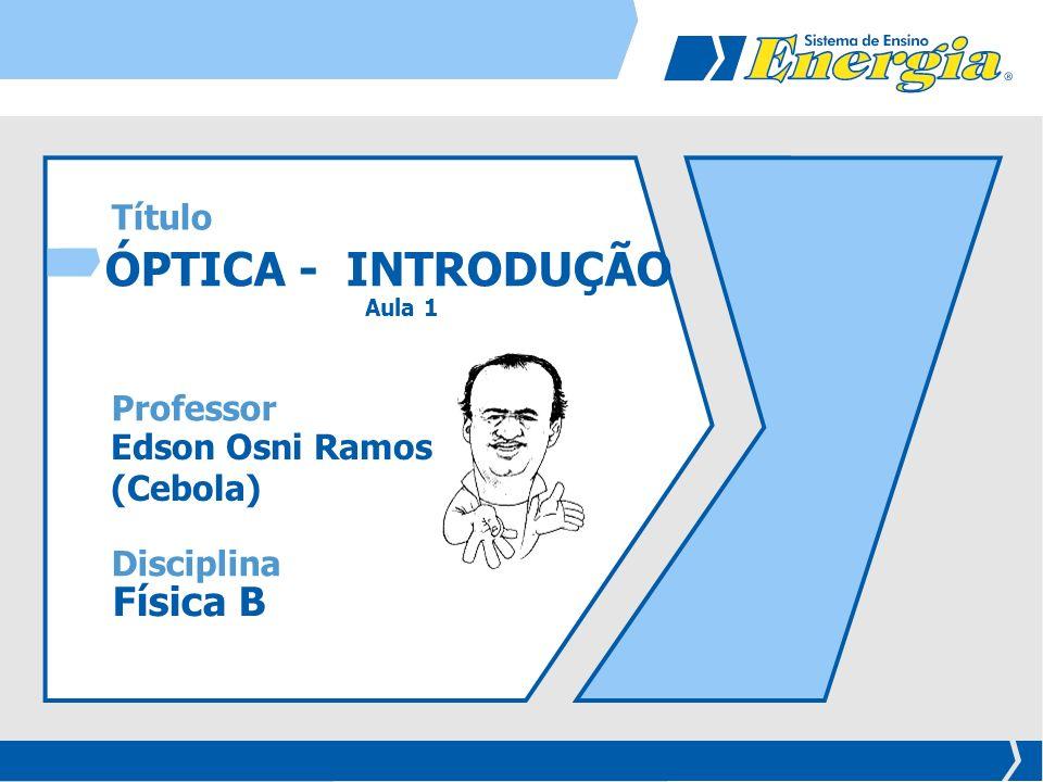 ÓPTICA - INTRODUÇÃO Física B Título Professor
