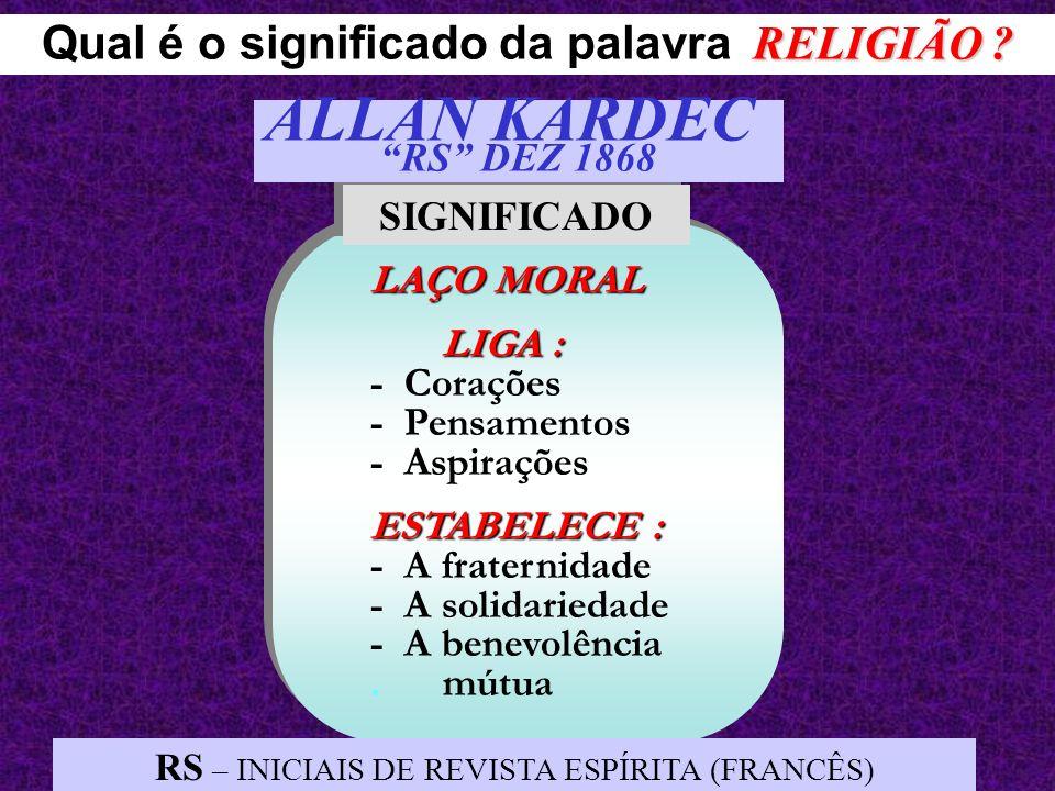 Qual é o significado da palavra RELIGIÃO