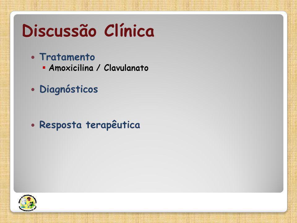 Discussão Clínica Tratamento Diagnósticos Resposta terapêutica