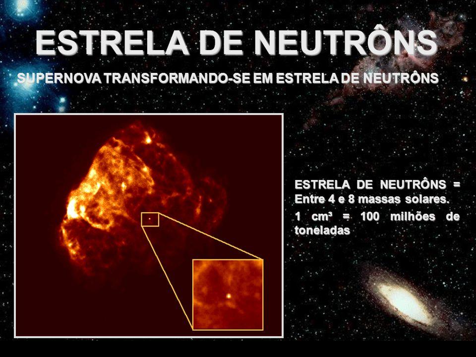 ESTRELA DE NEUTRÔNS SUPERNOVA TRANSFORMANDO-SE EM ESTRELA DE NEUTRÔNS