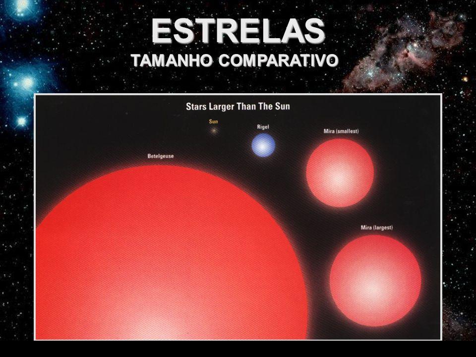 ESTRELAS TAMANHO COMPARATIVO