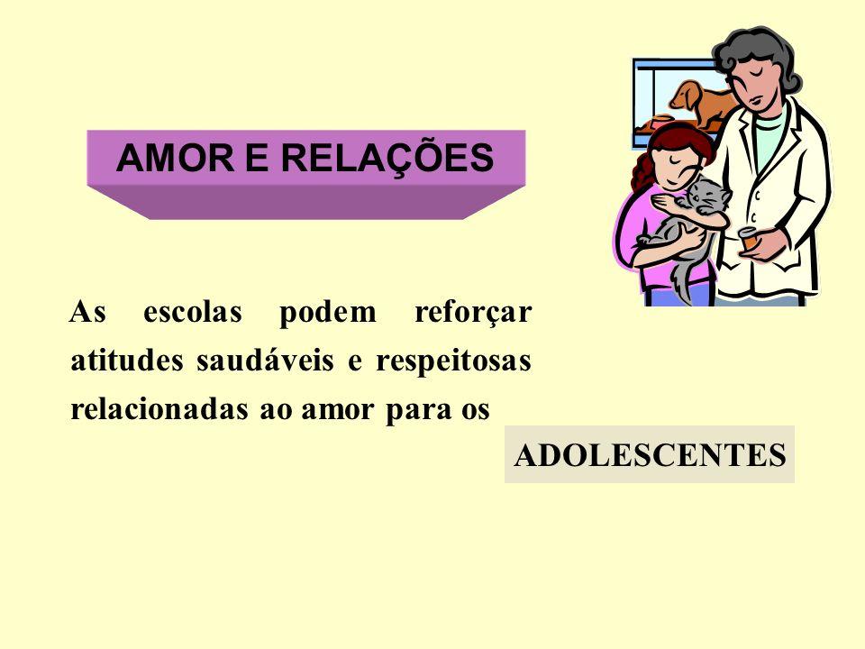 AMOR E RELAÇÕES As escolas podem reforçar atitudes saudáveis e respeitosas relacionadas ao amor para os.