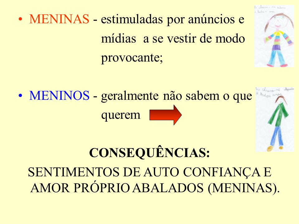 SENTIMENTOS DE AUTO CONFIANÇA E AMOR PRÓPRIO ABALADOS (MENINAS).