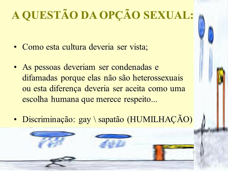 A QUESTÃO DA OPÇÃO SEXUAL: