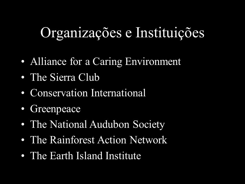 Organizações e Instituições