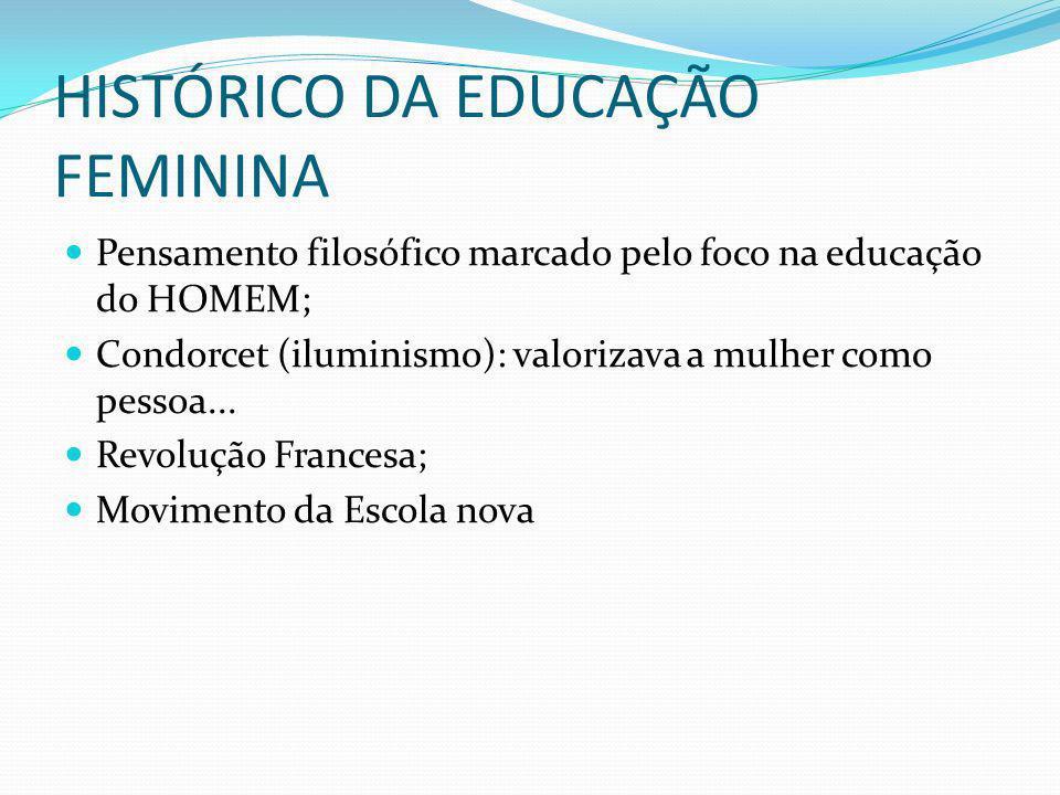 HISTÓRICO DA EDUCAÇÃO FEMININA