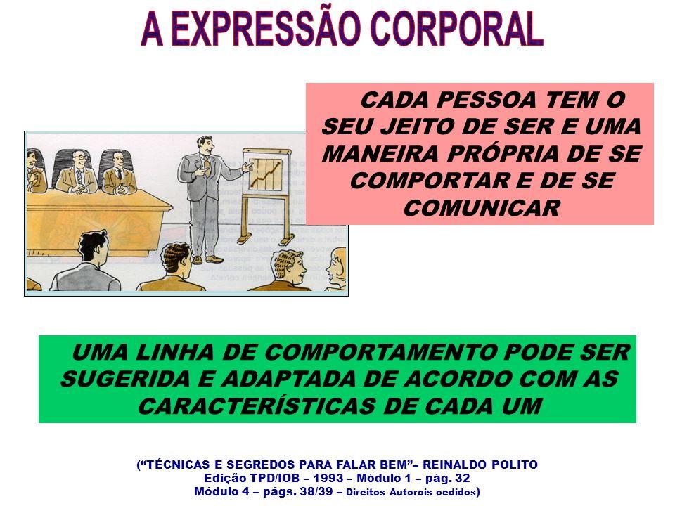 A EXPRESSÃO CORPORAL CADA PESSOA TEM O SEU JEITO DE SER E UMA