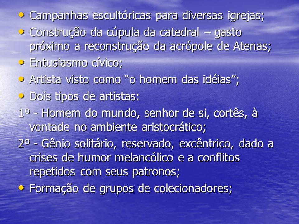 Campanhas escultóricas para diversas igrejas;