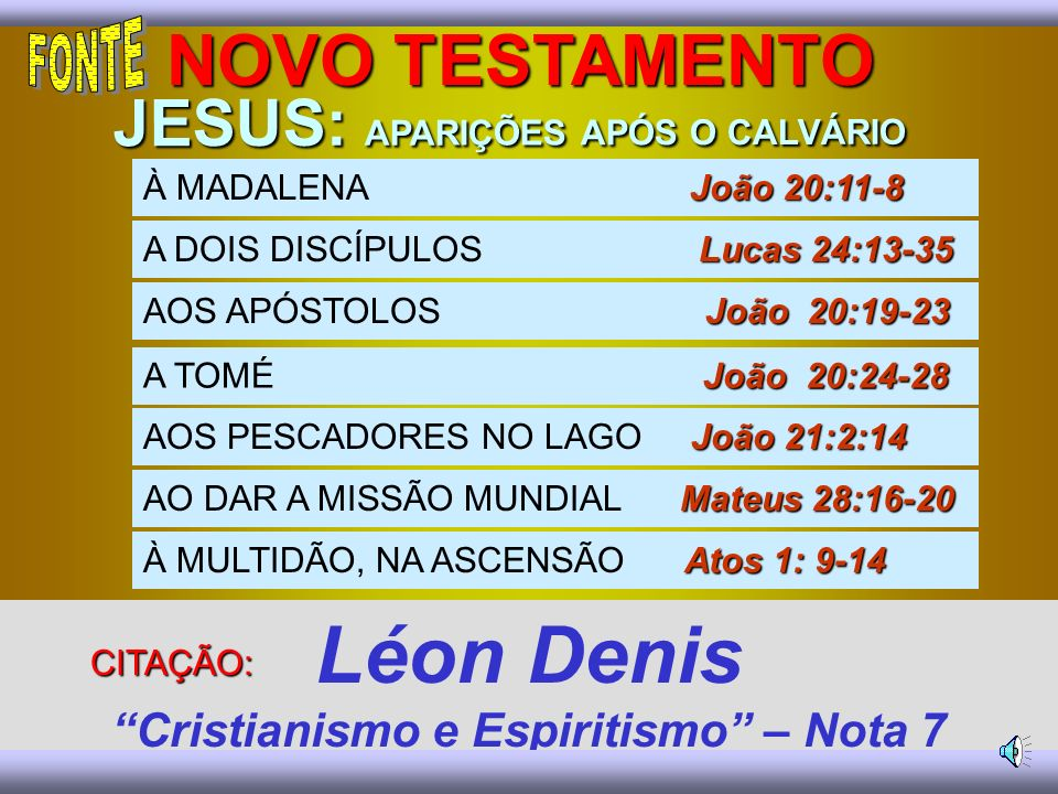 Léon Denis Cristianismo e Espiritismo – Nota 7