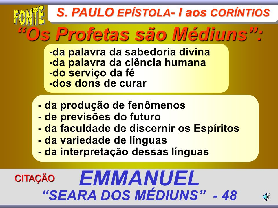 EMMANUEL SEARA DOS MÉDIUNS - 48