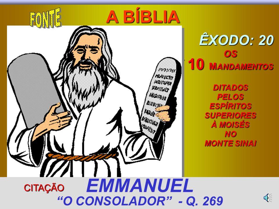 EMMANUEL O CONSOLADOR - Q. 269
