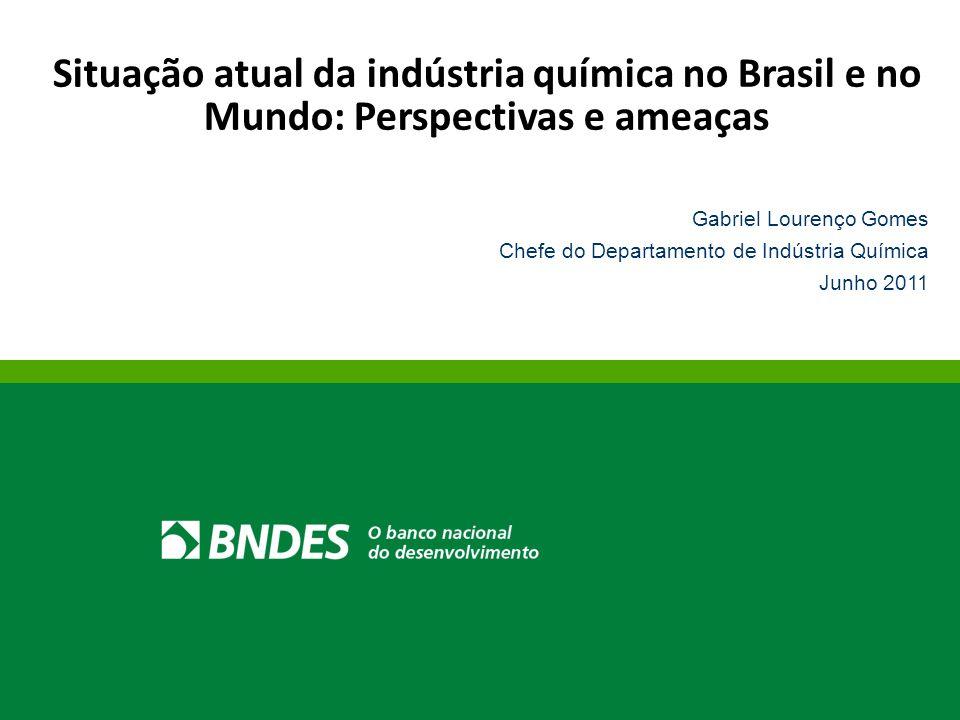Situação atual da indústria química no Brasil e no Mundo: Perspectivas e ameaças