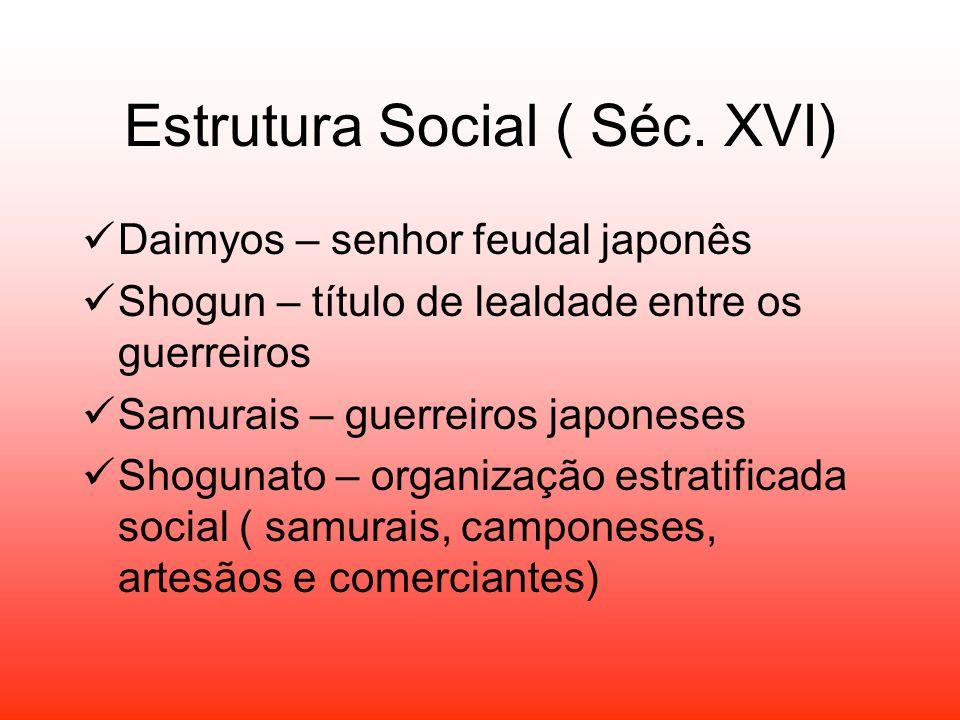 Estrutura Social ( Séc. XVI)