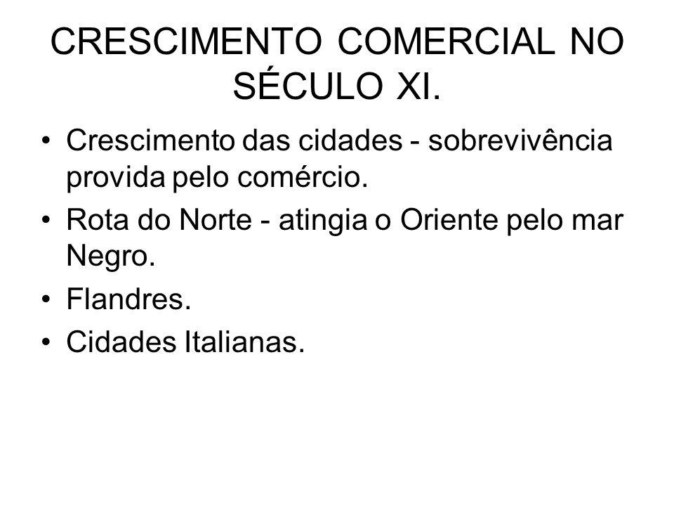 CRESCIMENTO COMERCIAL NO SÉCULO XI.