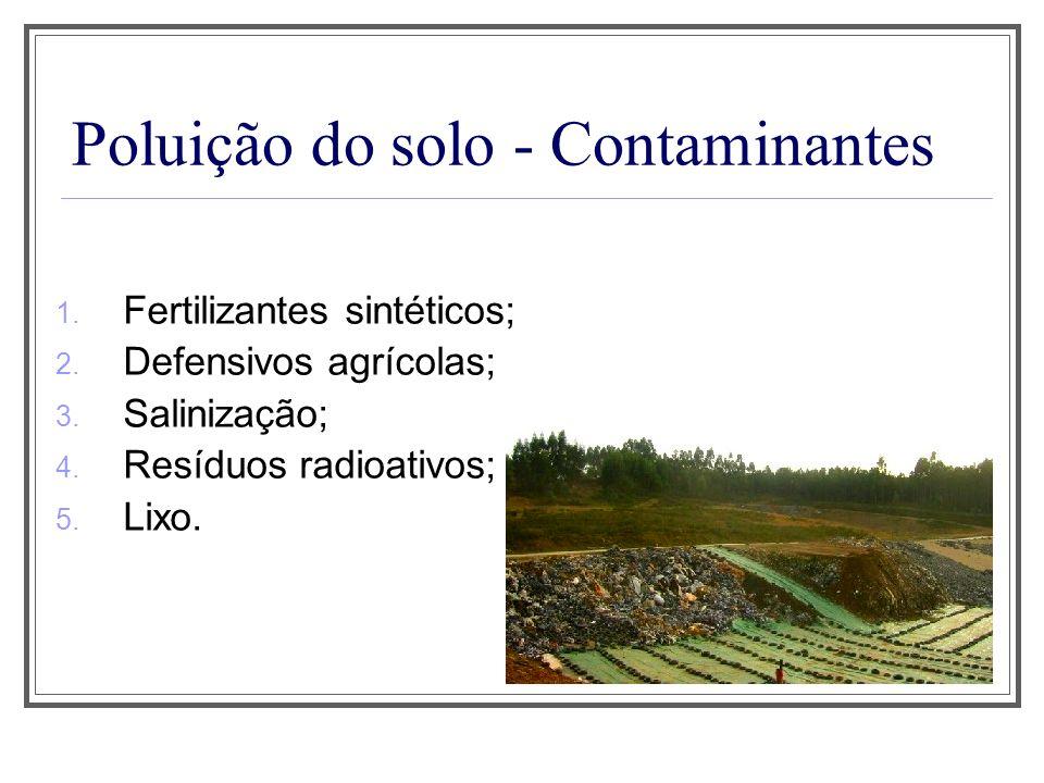 Poluição do solo - Contaminantes