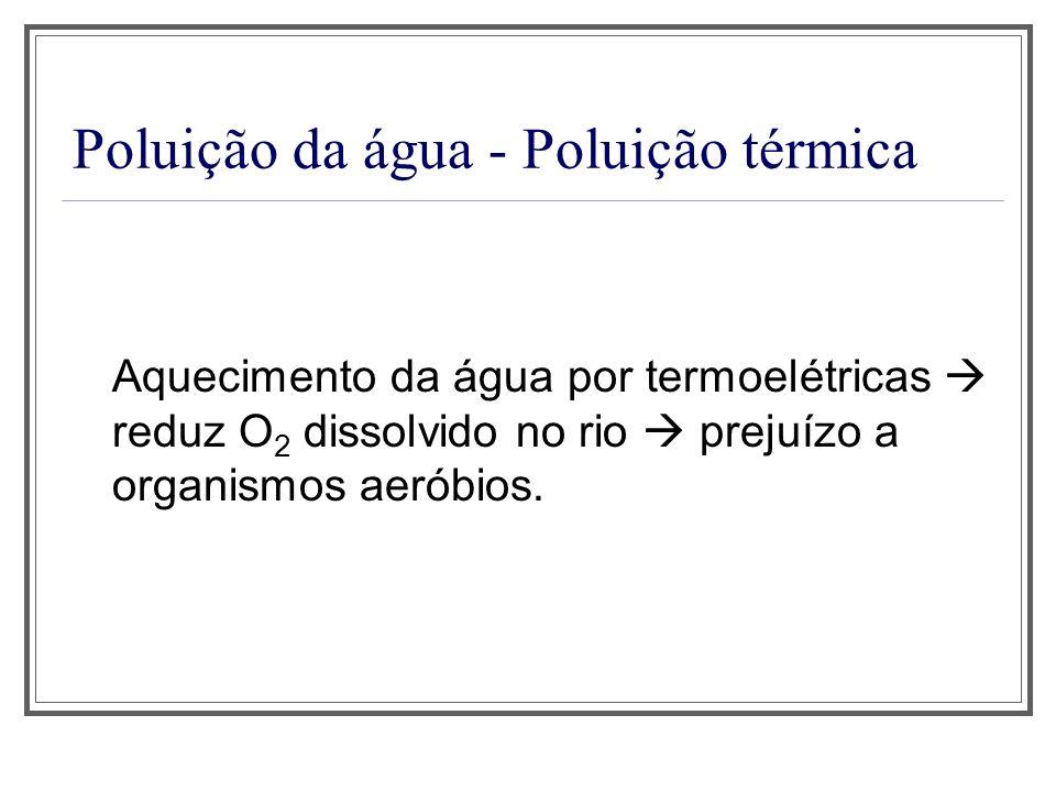 Poluição da água - Poluição térmica