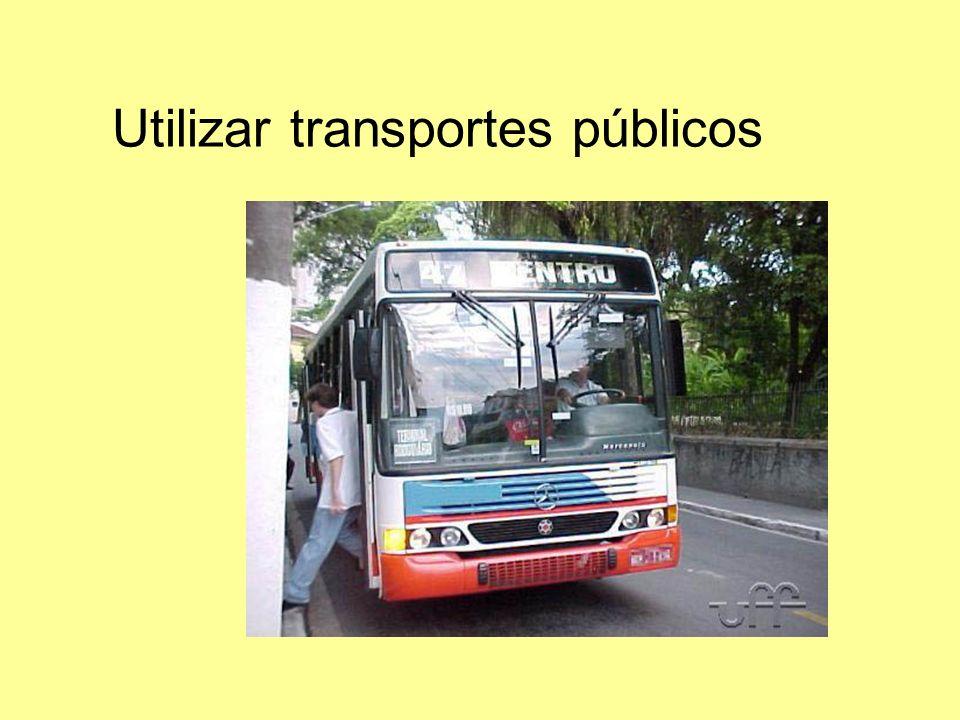 Utilizar transportes públicos