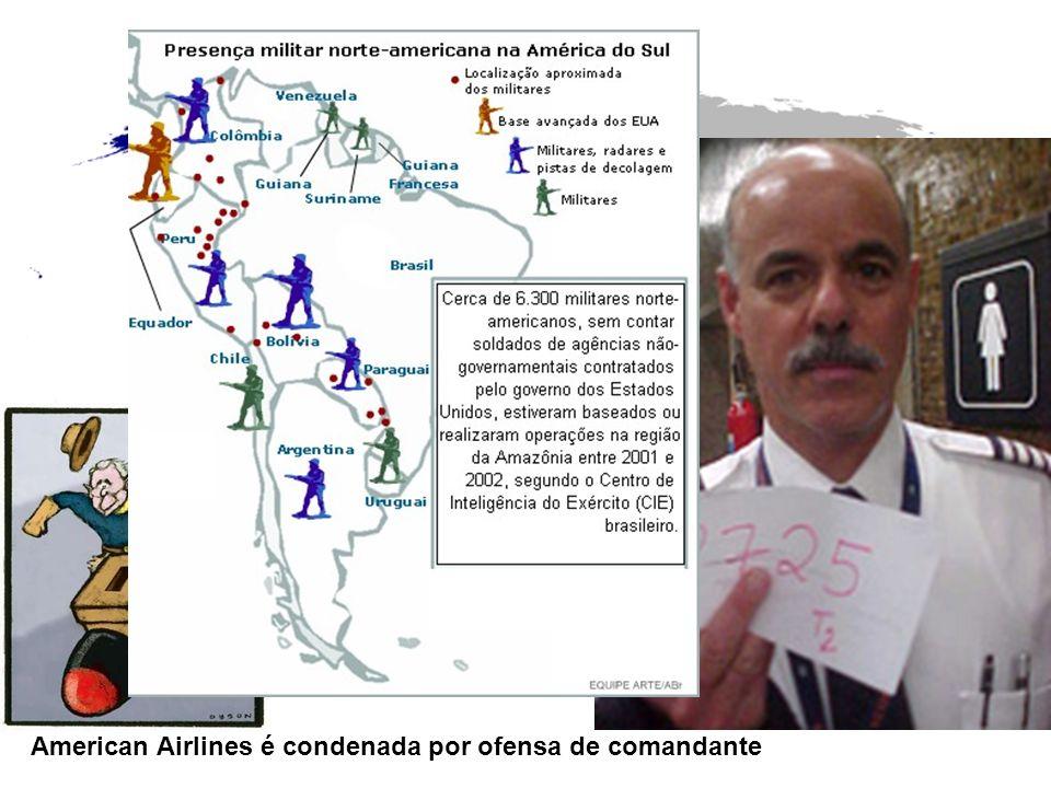 American Airlines é condenada por ofensa de comandante