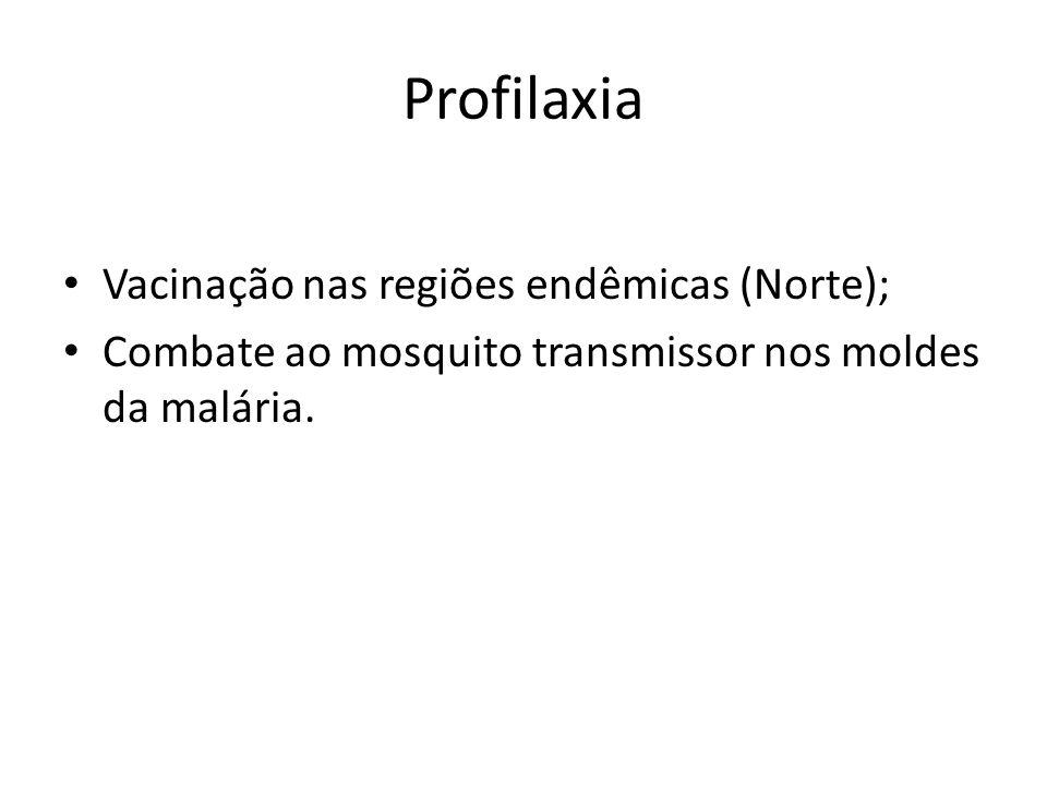 Profilaxia Vacinação nas regiões endêmicas (Norte);