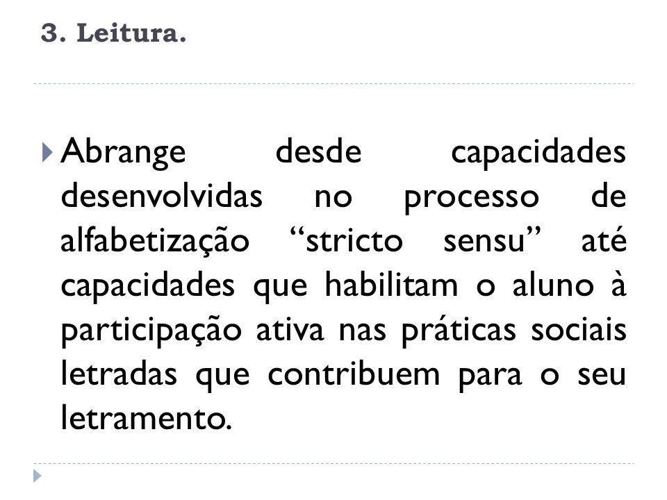 3. Leitura.