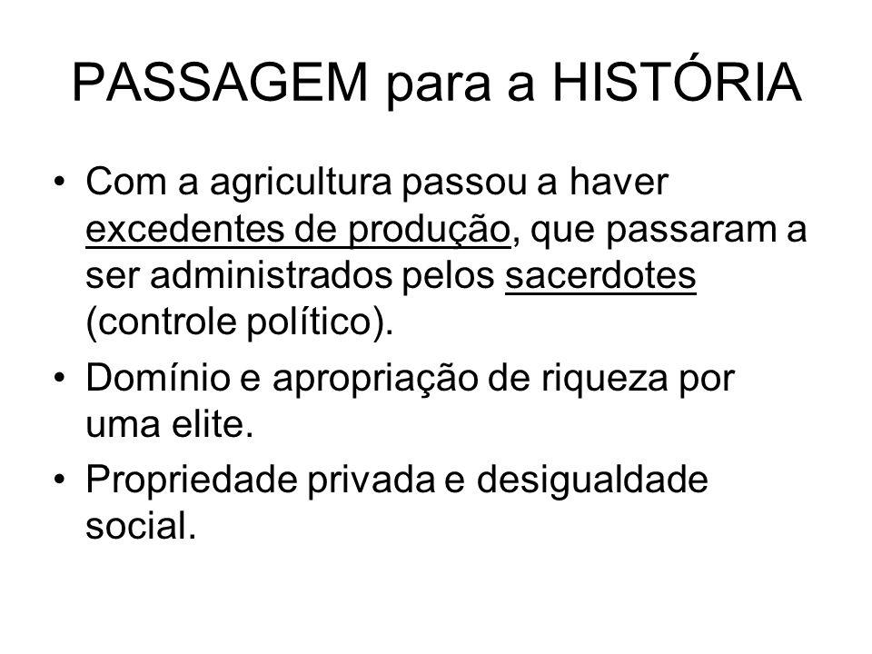 PASSAGEM para a HISTÓRIA
