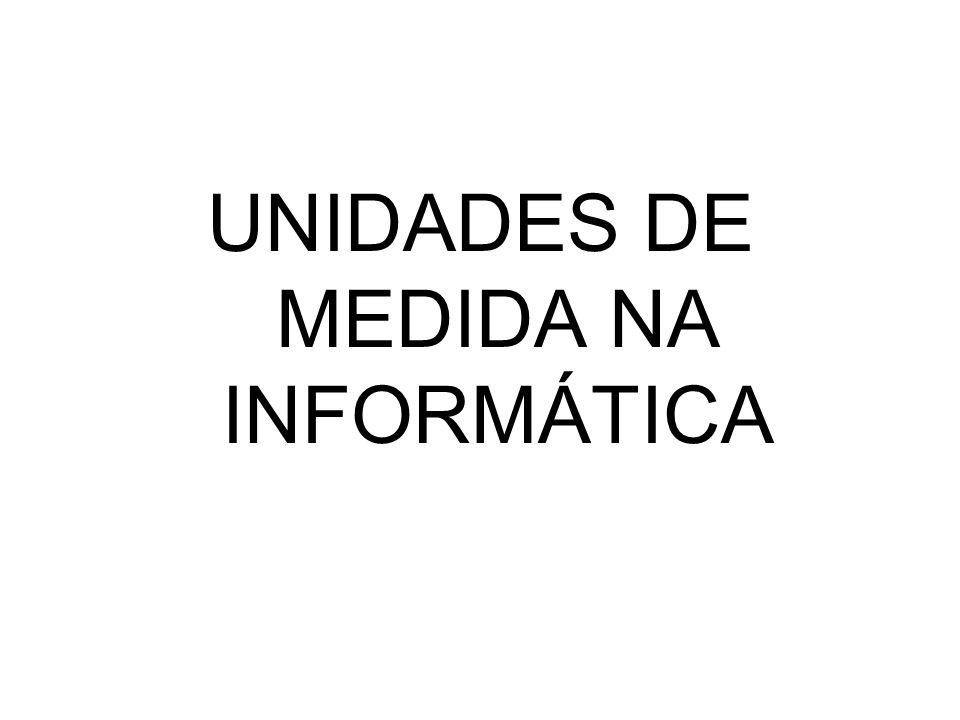 UNIDADES DE MEDIDA NA INFORMÁTICA