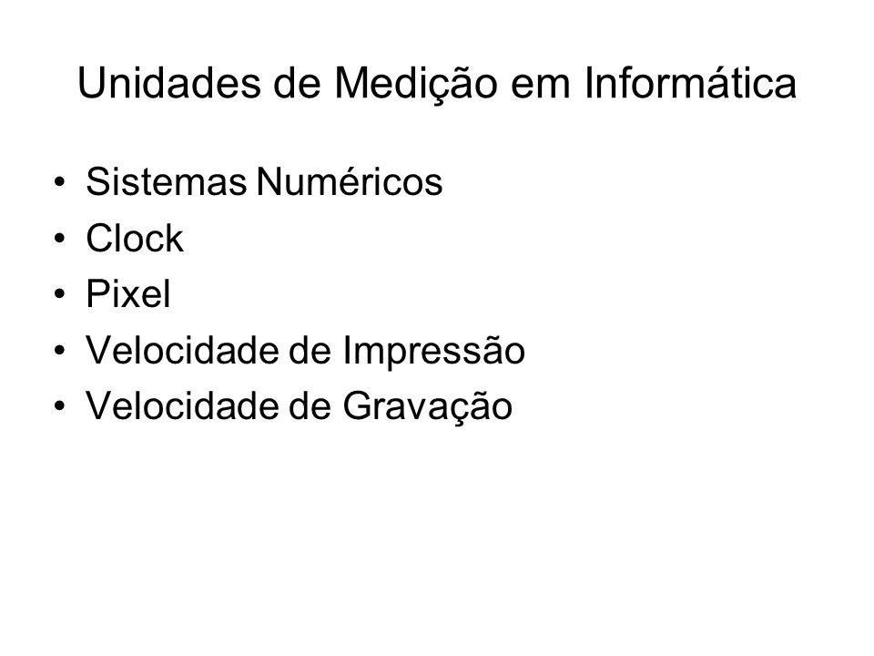 Unidades de Medição em Informática
