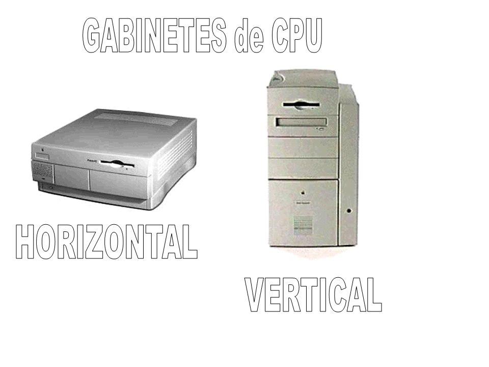 GABINETES de CPU HORIZONTAL VERTICAL
