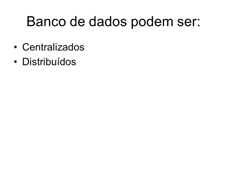 Banco de dados podem ser: