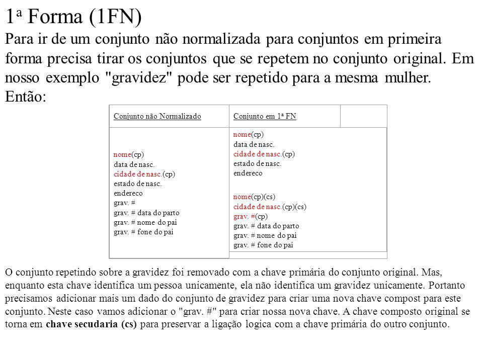 1a Forma (1FN)