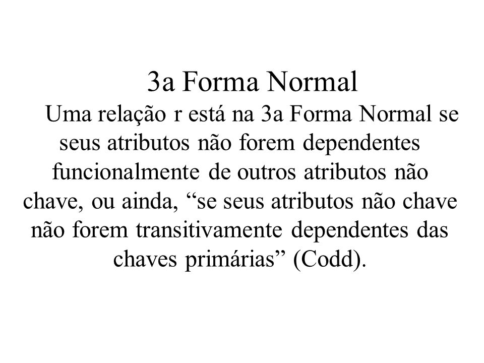 3a Forma Normal