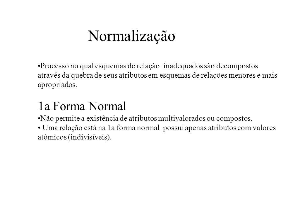 Normalização 1a Forma Normal