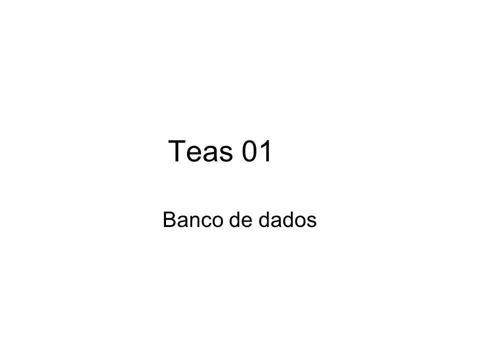Teas 01 Banco de dados