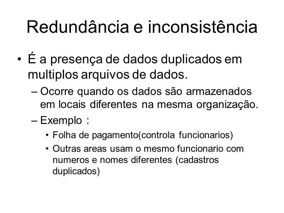 Redundância e inconsistência