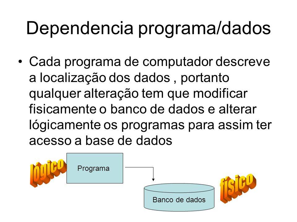 Dependencia programa/dados