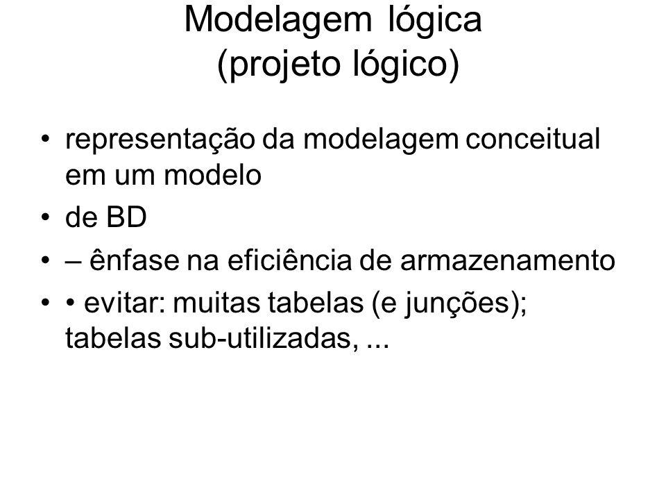 Modelagem lógica (projeto lógico)