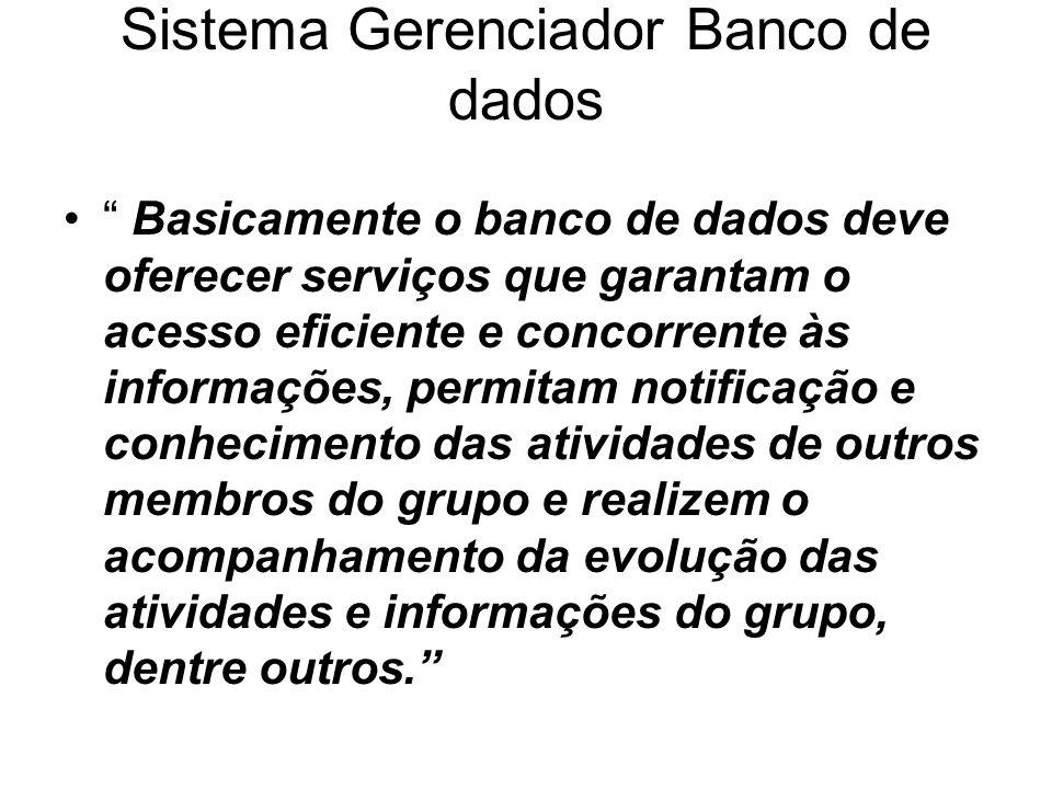 Sistema Gerenciador Banco de dados