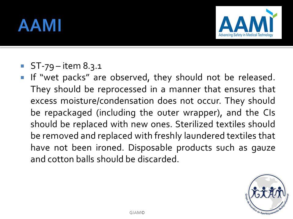 AAMI ST-79 – item 8.3.1.