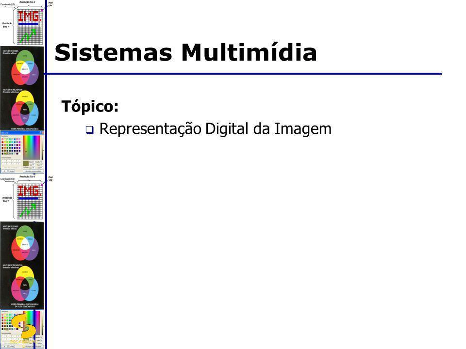 Sistemas Multimídia Tópico: Representação Digital da Imagem