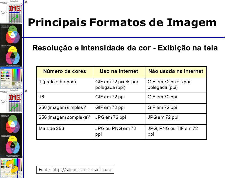 Principais Formatos de Imagem