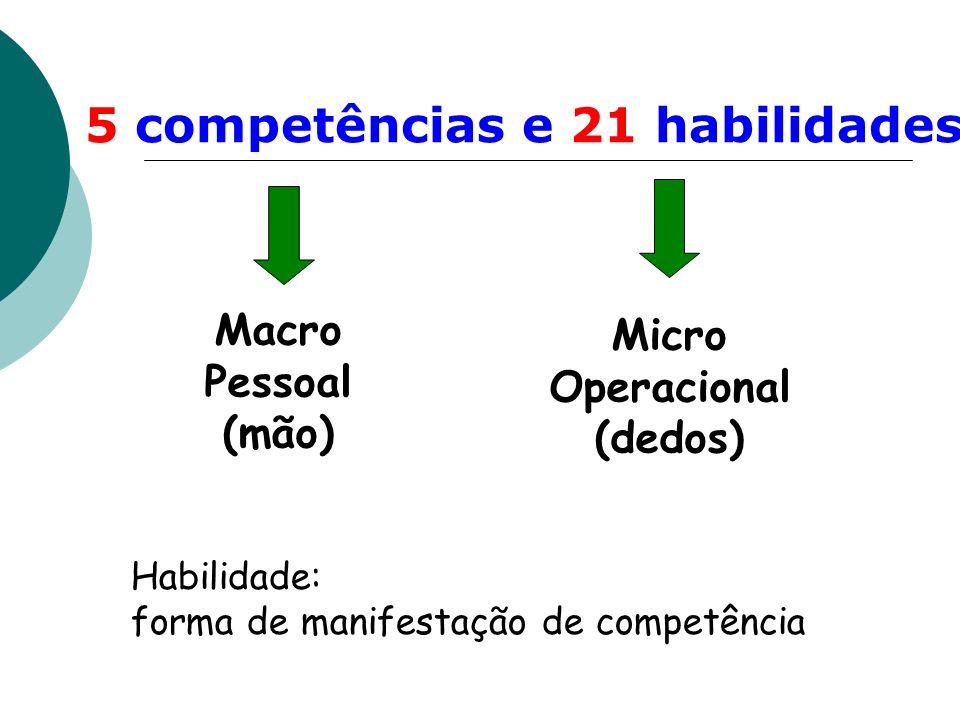 5 competências e 21 habilidades