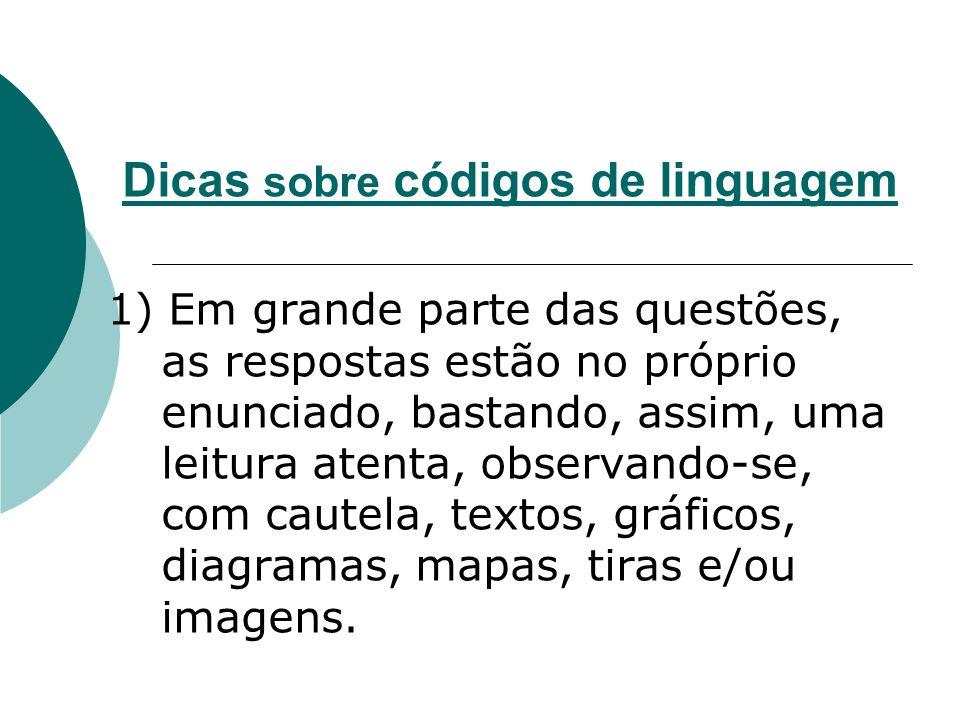 Dicas sobre códigos de linguagem