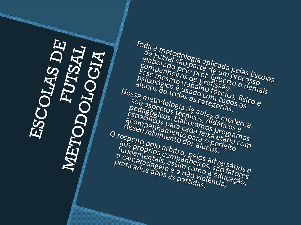 ESCOLAS DE FUTSAL METODOLOGIA