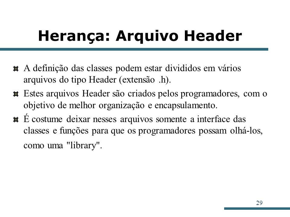 Herança: Arquivo Header