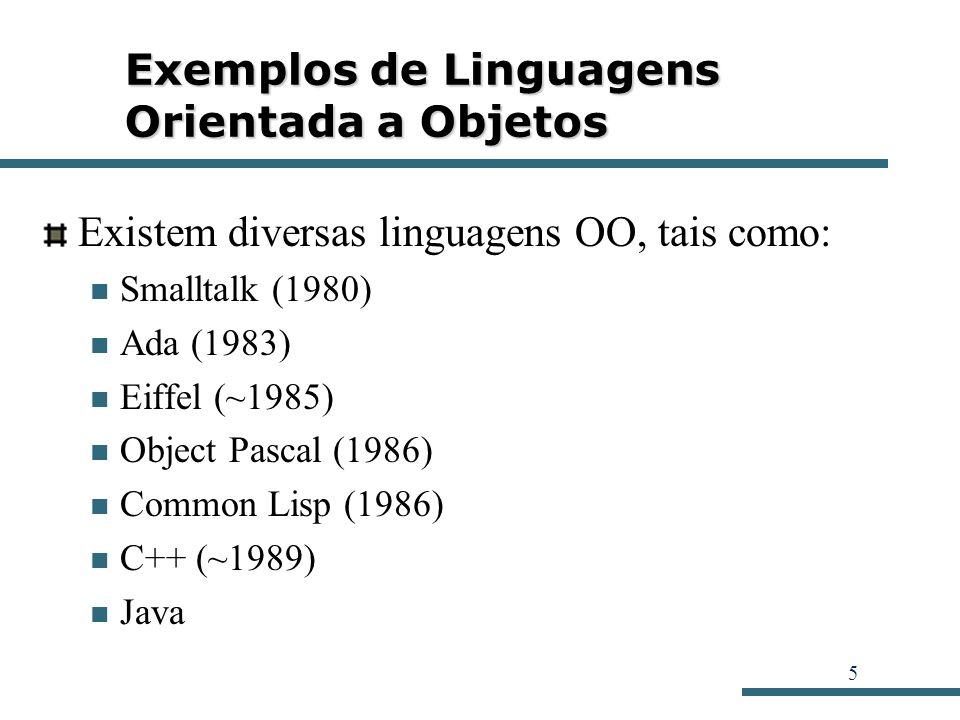 Exemplos de Linguagens Orientada a Objetos