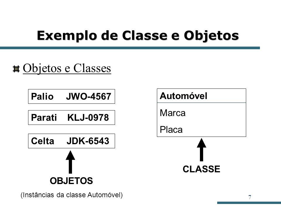 Exemplo de Classe e Objetos