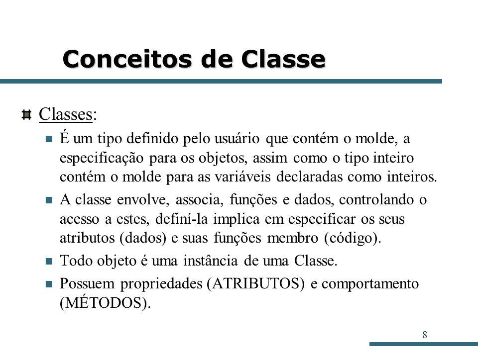 Conceitos de Classe Classes: