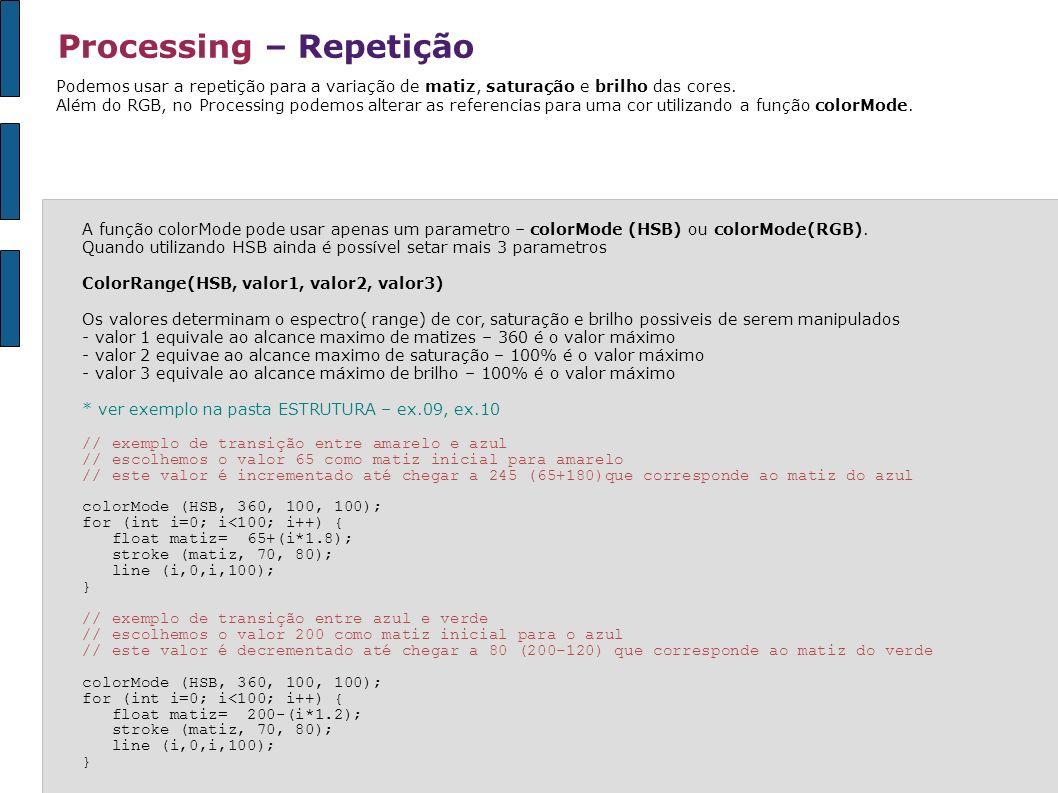 Processing – Repetição
