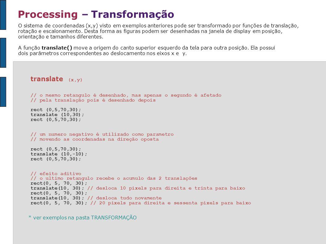 Processing – Transformação