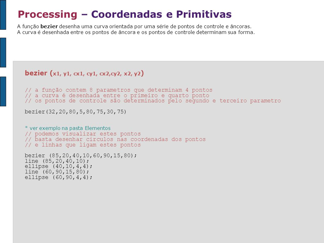 Processing – Coordenadas e Primitivas